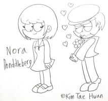 Dennis,Falls in love with Nora Donddleberg by komi114