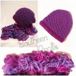 Shelly Slouch Hat and Knitted Scarf Set by YunisUnis