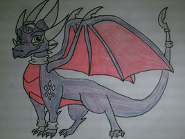 cynder the dragon painted by shadowhatesomochao