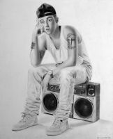 Mac Miller Drawing by Rollingboxes