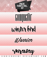 Pack Fonts Vol. 07 by xPEGASVS
