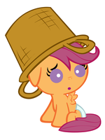 Scootaloo's New Hat by Beavernator