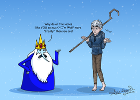 Adventure Time meets Jack Frost by alisagirard