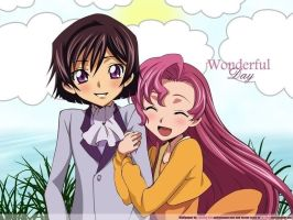 Lelouch and her sister by AnaliaRachelRoth