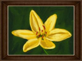 DSi Art Academy: Yellow Lily by VATalbot
