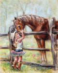 COWGIRL WHISPERS , Laurie Shanholtzer artist by laurieshan