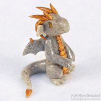 Seated Stone Dragon v.2 by HowManyDragons