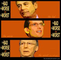 The Bad, The Worse + The Worst by larynx1982