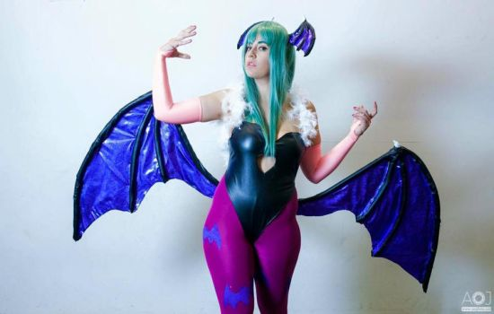 Morrigan Cosplay - Join me in the darkness by JudyHelsing