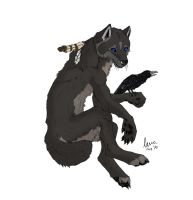 Wolf and Raven by KeksWolf