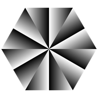 grayscale hexagon illusion by 10binary