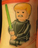 Lego Luke Skywalker Tattoo by NateTheKnife
