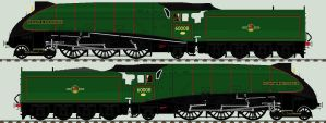LNER A4 liveries - 60008 'Dwight D. Eisenhower' by 2509-Silverlink