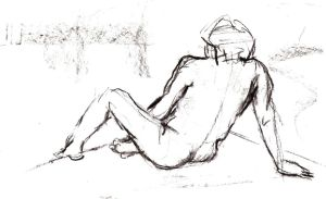 Charcoal Life drawing 2012 by Tallis