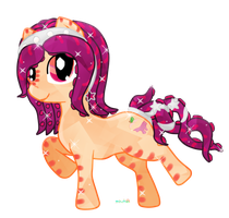 Crystal Magenta Peach by Puccawitch