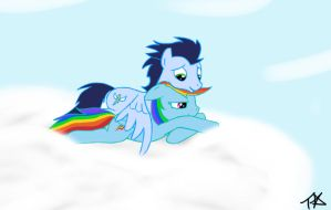 Rainbow and Soarin by TheParagon