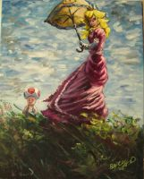 Peach Princess my painting by cliford417