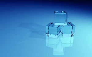 Blue Glass Blocks Widescreen by b-a88