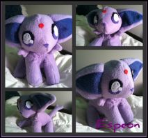 Chibi Espeon Plush by CeltysShadow