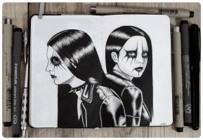 Black metal girls by DannyFilth01