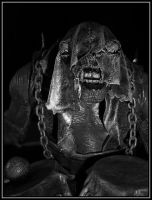 troll with drums close up by Macomona