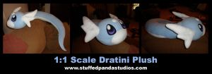 Life sized Dratini plushie by stuffedpanda-cosplay