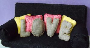 Miniature Love Letter Pillows - One Inch Scale by Kyle-Lefort