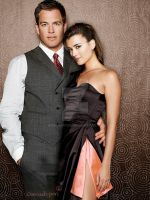 Tony and Ziva Manip without the effects. by Wennuhpen