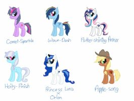 Custom Shipping Fillies for SamithaM by Rainbow-ninja-adopts