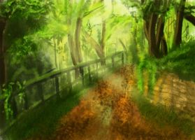 Forest Path Speedpaint by Kivusa