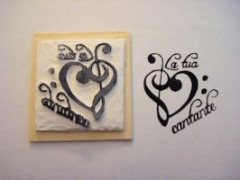 La Tua Cantante rubber stamp by dragonflycurls
