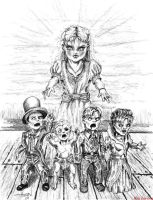 molly and her dolls by inkinblood
