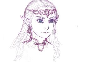 Zelda Sketch by ResidentFrankenstein