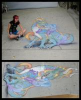 Dragon Chalk Art by DablurArt
