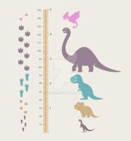dino growth chart by xryss