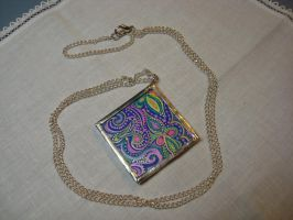 Soldered Glass pendant by mandalagal