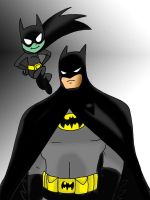 Batman and Batmite by Koku-chan