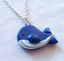Cute Whale Necklace by MariposaMiniatures