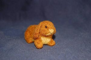 needle felted rabbit 1 by were-were-wolfy