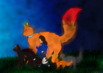 The silhouette of a tale by Firekitsunecat