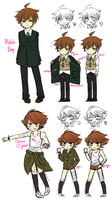 soldier naegi and fighter fujisaki by kyary-lenlen