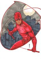 Daredevil copic marker by Thegerjoos