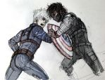 Mighty Fall (Winter Soldier!Au Hijack) by KT-ExReplica