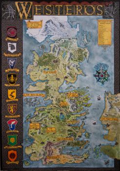 Hand-Drawn Westeros Map (Complete and finished map by Klaradox