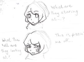 What staring does to the victum by Elzbun