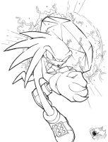 Knuckles the Echidna - Line Art by SonicGirlGamer71551
