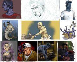 Iscribble sketch dump 3 by crow821