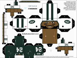 Darrelle Revis Jets Cubee by etchings13