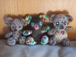 Amigurumi Teddy Bears by Krejdar