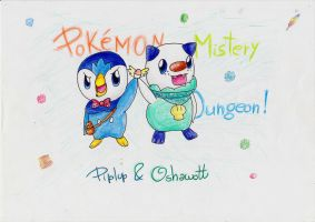 Piplup and Oshawott by IperGiratina98